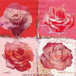 Lámina con diseños de rosas