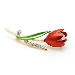 Broche Tulipan rojo