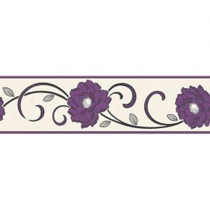Cenefa con flor morada