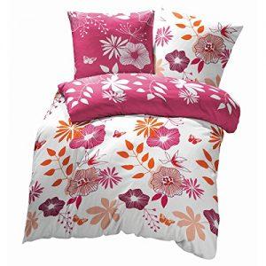 Juego de funda de edredón y de almohada de flores