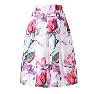 Falda larga de flores estilo vintage