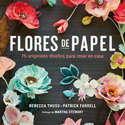 Libro flores de papel