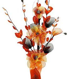 Florero naranja 80 cm