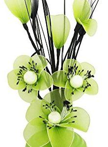Jarrón con flores nailón de color verde 32 cm