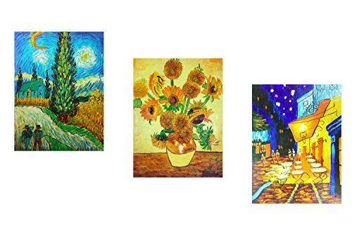 3 lienzos pintados a mano de Vincent van Gogh