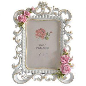 Marco de fotos de 13x18 cm Rosas talladas en el marco