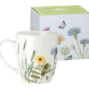 Taza de porcelana flores silvestres