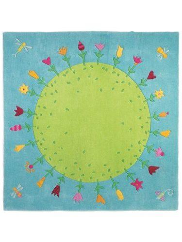 Alfombra infantil El planeta de las flores, Composición: 100% Lana Nueva Zelanda
