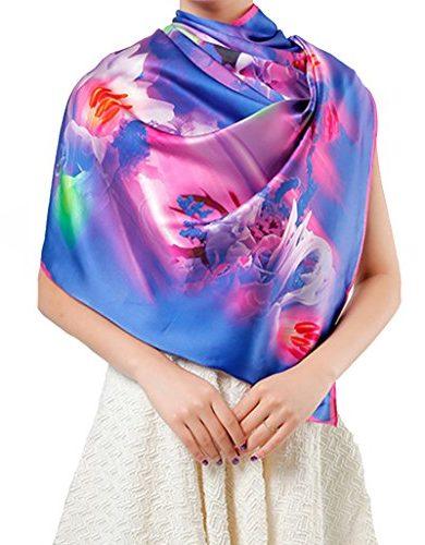 Pañuelo de seda natural 110x110 cm