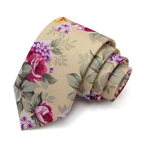 Corbata elegante con flores