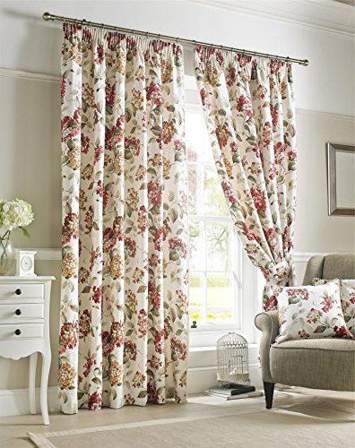 Juego de cortinas modernas con estampado floral