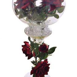 Jarrón Gran Cáliz con rosas artificiales