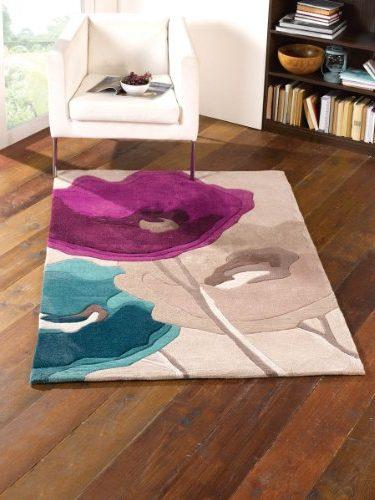 Alfombra Infinite, diseño amapolas 160x230 cm