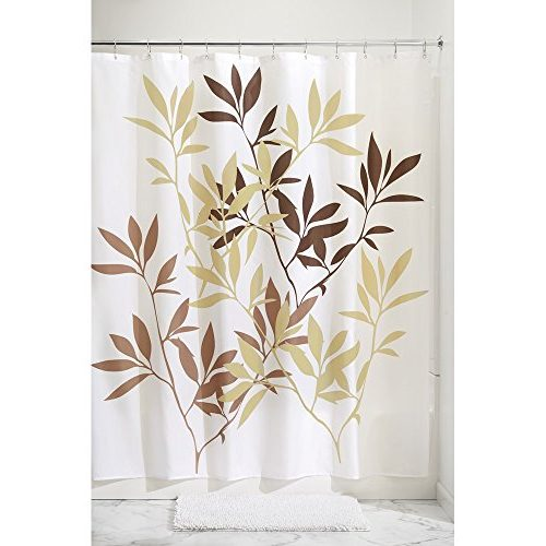 Cortina InterDesign hojas color chocolate