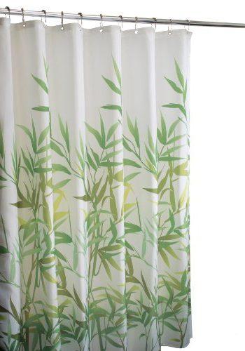 Cortina InterDesign hojas verdes