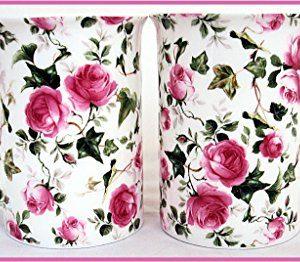 Juego de 2 tazas de porcelana de rosas