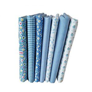 telas serie de algodón de flores 7 unidades
