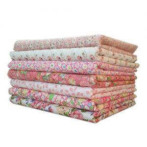 Telas de flores de algodón