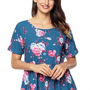 Camiseta La Vogue estampada en flores y con pliegues sutiles en las mangas
