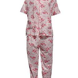 Pijama de señora de algodón y flores