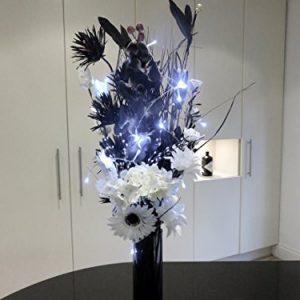 Florero de cristal con luces LED