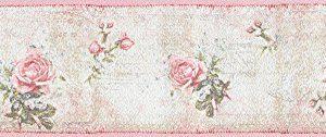 Cenefa con estampado de rosas