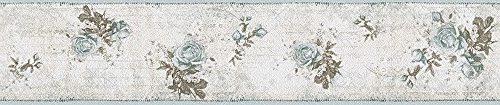 Cenefa decorativa con estampado de flores