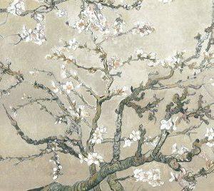 Lámina ramas de almendro