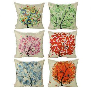 Conjunto de 6 fundas árbol de primavera