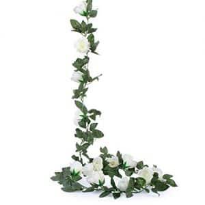 Guirnalda de flores artificiales estilo vintage