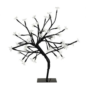 Lámpara decorativa estilo bonsai negro