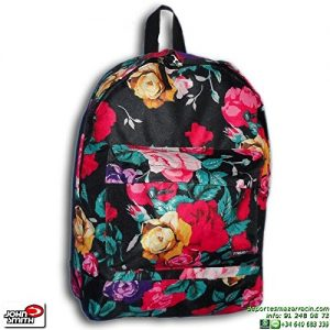 Mochila Escolar de Flores John Smith