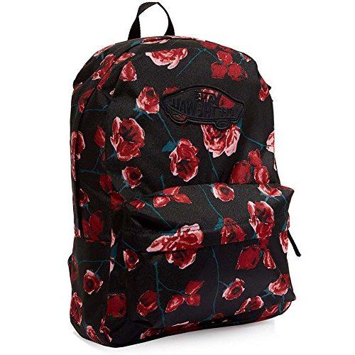 Mochila Vans con Flores rojas