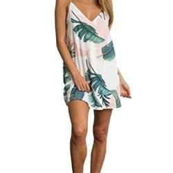 Vestido hojas de palmera