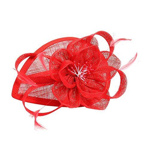 Tocado bodas con pluma
