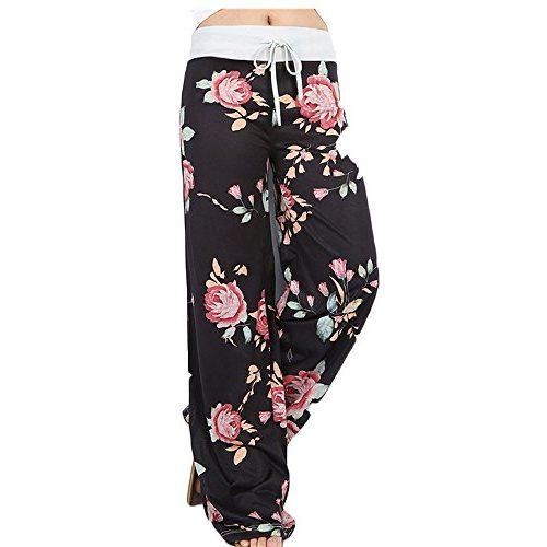 Pantalón de yoga con estampado floral