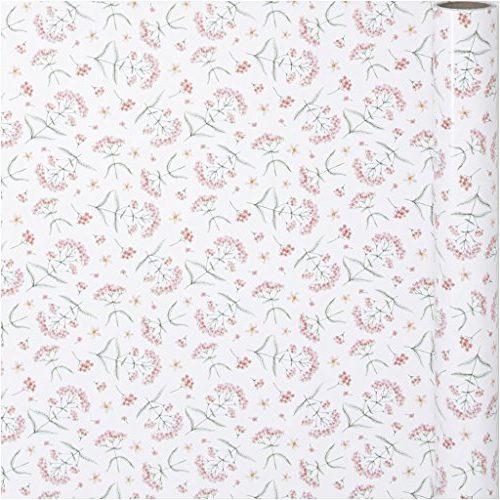 Rollo de papel de regalo de flores 80 gr