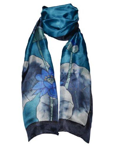 Pañuelo azul flor de loto