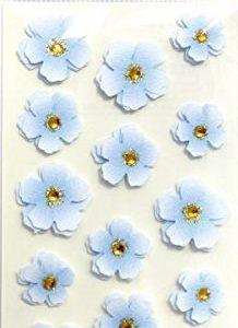 Pegatinas flores azules