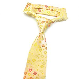 Corbata JACQUARD de seda con flores