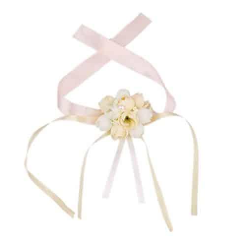 Pulsera de flores para bodas