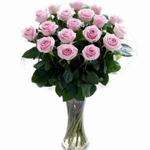 Ramo de 18 rosas frescas y naturales