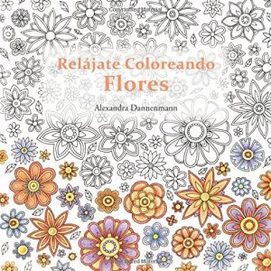 Relájate coloreando flores