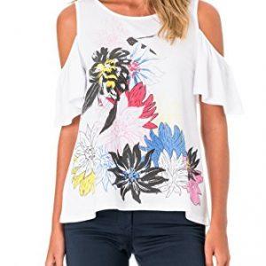Camiseta SALSA sin hombros con Flores