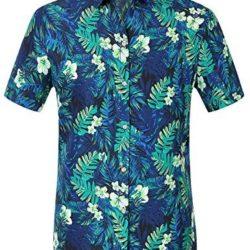 Camisa Hawaiana Manga Corta Estampado Jungla