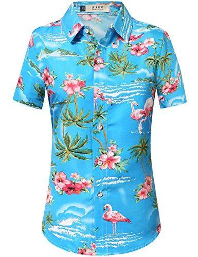 Camisa de mujer SSLR Hawaiana