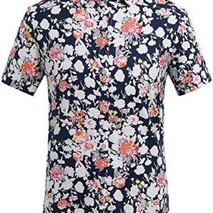 Camisa para Hombre de Flores, Manga Corta