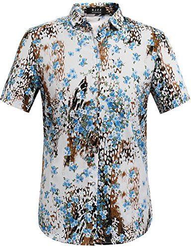 Camisa SSLR casual de Manga Corta para Hombre con estampado floral