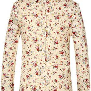Camisa SSLR Fit de Manga Larga para Hombre Estampada Flores