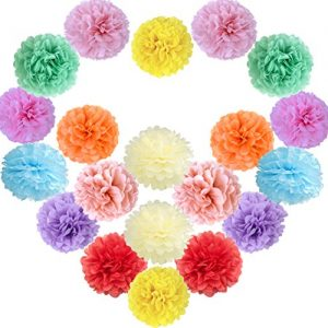 20 unidades de bolas de papel de flores